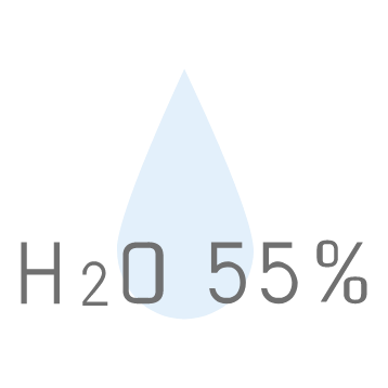 H2o 55%